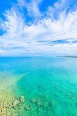Sea of emerald green in Okinawa