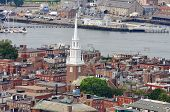 picture of paul revere  - Aerial view of Boston North End - JPG