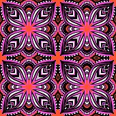 Purple pattern with ethnic and tribal motifs