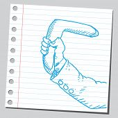 Boomerang in hand
