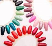 Samples of nail varnishes