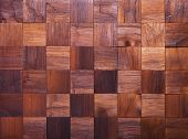 image of wood pieces  - Mosaic of wood brown pieces - JPG