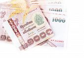 Thai money isolated on a white background
