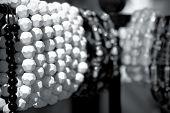 stock photo of bangles  - multiple artificial bead bangles in surajkund fair  - JPG