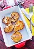 baked potato with lard