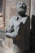 sculpture of Mesrop Mashtots in Vagharshapat, Armenia