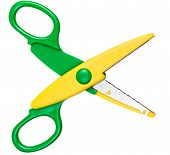 Children's Scissors Isolated On White