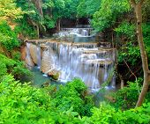 Huay Mae Khamin, Paradise Waterfall Located In Deep Forest Of Thailand. Huay Mae Khamin - Waterfall