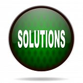 solutions green internet icon