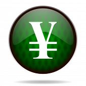 yen green internet icon
