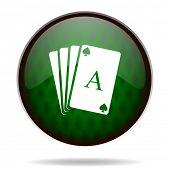 card green internet icon
