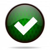 accept green internet icon