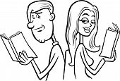 Couple In Love Cartoon Coloring Page