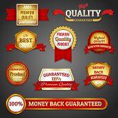 Golden quality labels set