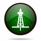 drilling green internet icon