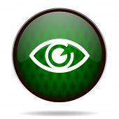 eye green internet icon