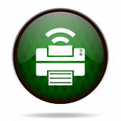 printer green internet icon