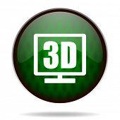 3d display green internet icon