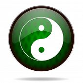 ying yang green internet icon