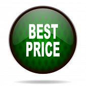 best price green internet icon