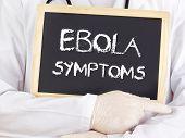 Doctor Shows Information: Ebola Symptoms