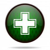 pharmacy green internet icon