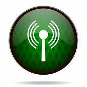 wifi green internet icon