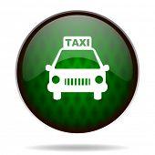 taxi green internet icon