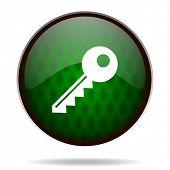 key green internet icon