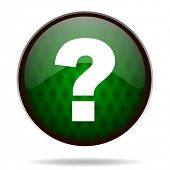 question mark green internet icon