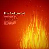 Flame red background