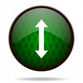 arrow green internet icon