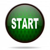 start green internet icon