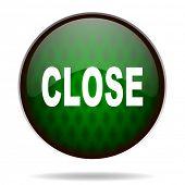 close green internet icon