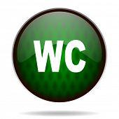 toilet green internet icon