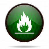 flame green internet icon