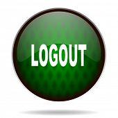 logout green internet icon