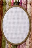 Tambour for cross stitch on sacking