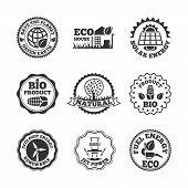 Eco energy labels set