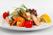 Assorted Shrimp, Mussels And Squid With Tomato And Herbs