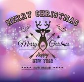 Christmas Greeting Card for happy Holidays and new year flyers.