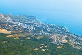 View Of Big Yalta City On South Coast Of Crimea