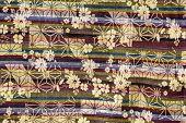 Background Of Thai Style Handmade Fabric Pattern.