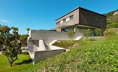 Architecture modern design, beautiful house, outdoor