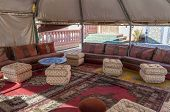 Interior Of A Traditional Bedouin Tent