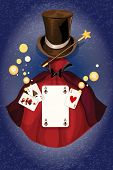 Magician colored background