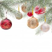 Abstract Christmas background, close-up.