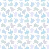 Seamless Pattern. Light Thumb Up Icons.