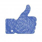 thumb up sketch