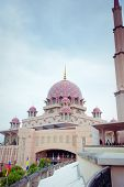 Putra Mosque Located In Putrajaya City, Malaysia